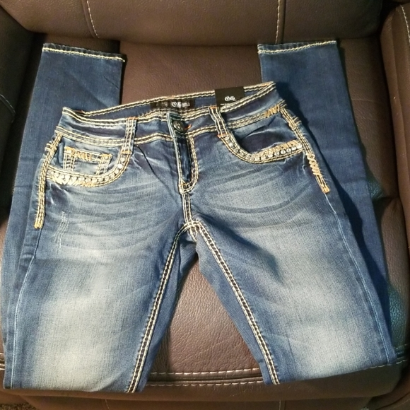 Cello Skinny light wash Stitched jeans size 3